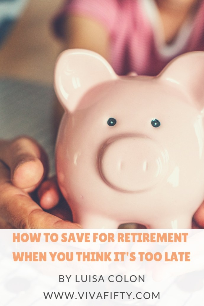When it comes to saving for retirement, it's better late than never. If you feel it's too late for you, read on. #finances #retirement #savings #money