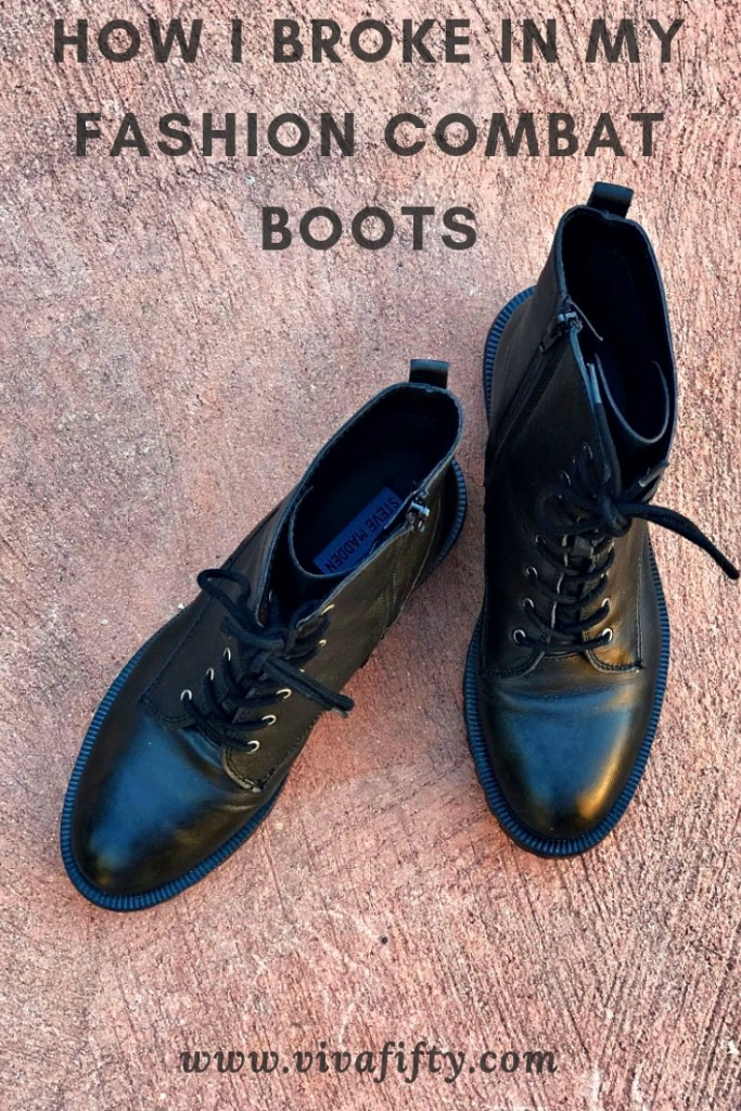 If you've recently purchased some stylish combat boots and want to break them in in record time, here's how! #style #fashion #shoes #boots