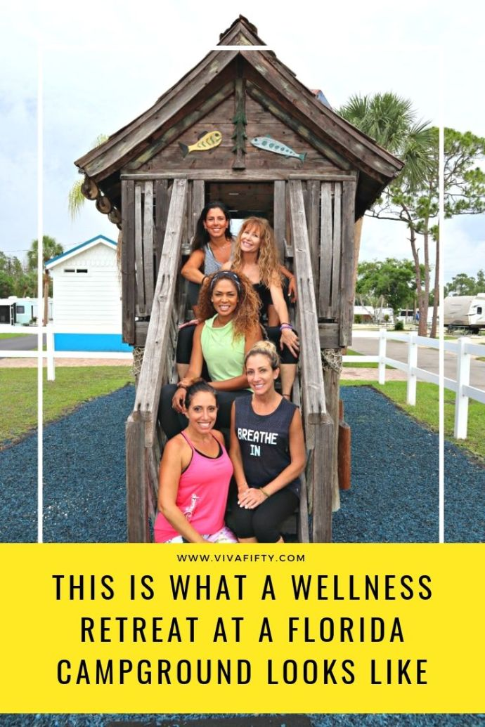 A wellness retreat in nature is a great way to reconnect with ourselves, with the world around us and with other people. Here is what our retreat at a campground looked like. #ad #KOA #camping #wellness #retreat