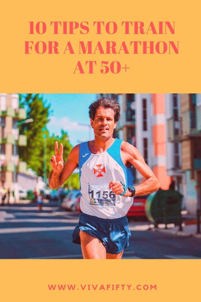 Running a marathon is on your bucket list, but you´re past 50. Should you still give it a try? We think so! Here are some tips to help you train. #marathon #running #over50