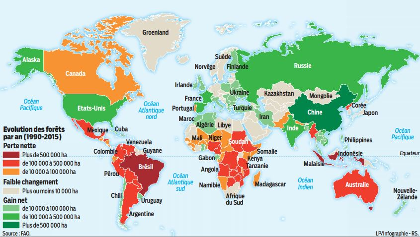 Image carte amazonie déforestation