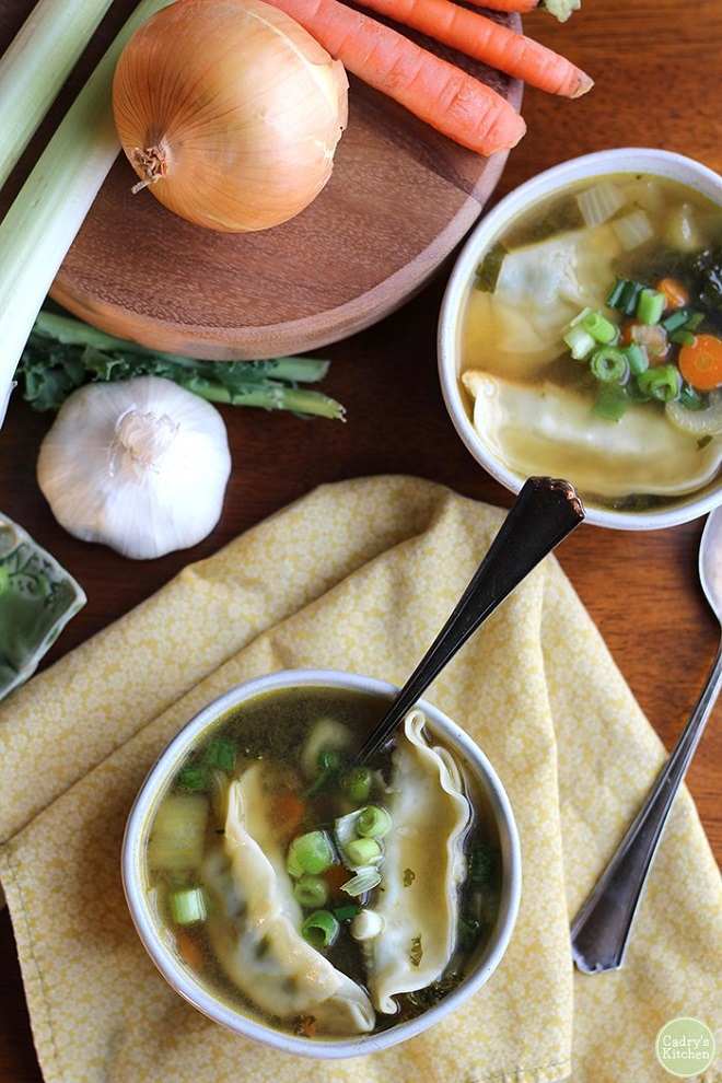 22 Vegan Recipes to Enhance with Gochujang Soothing vegan potsticker soup