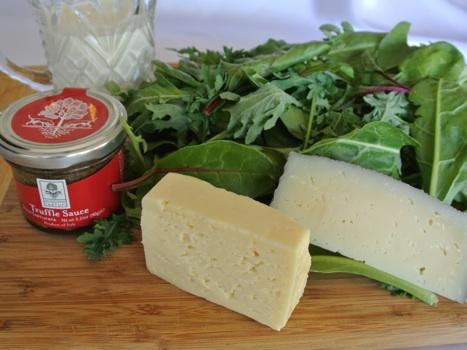 truffle sauce creamed greens prep_467x350