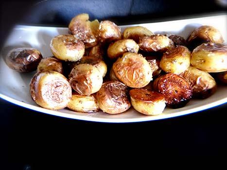 smashed-truffle-potatoes-platter