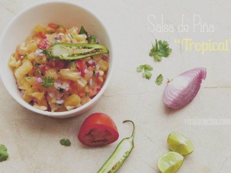 receta de salsa de piña
