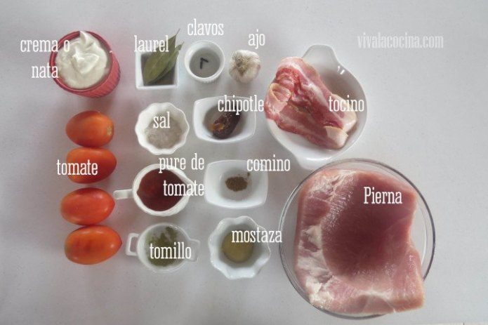 Ingredientes para los lonches bañados