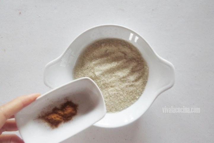 Mezcla Azucar y Canela para la receta de tostadas francesas
