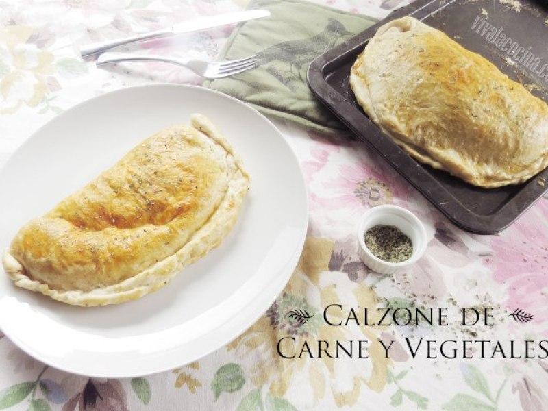 receta de calzone de carne y vegetales