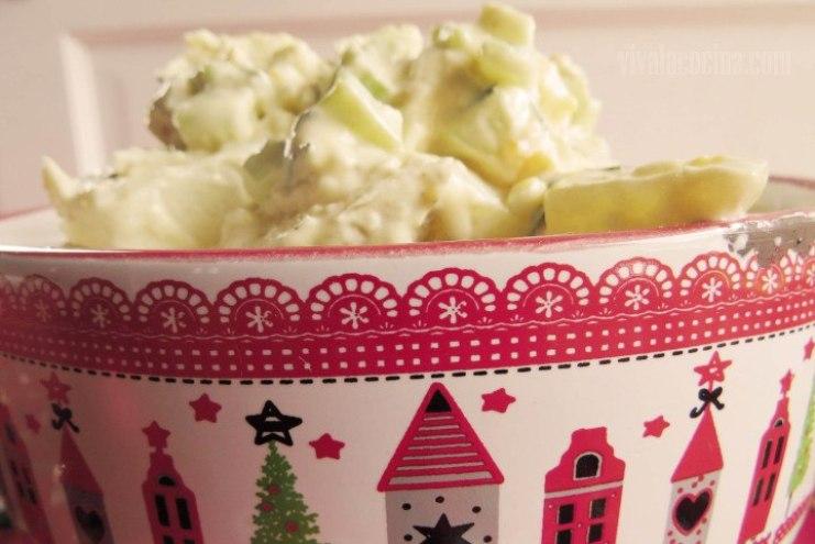 Ensalada de Patata o Papa lista para comer: Receta terminada