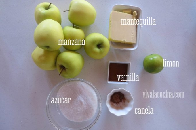 Ingredientes relleno para la Tarta Tatin
