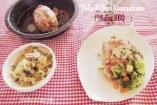 Milanesas de Pollo rellenas con Queso y Champiñones con salsa BBQ