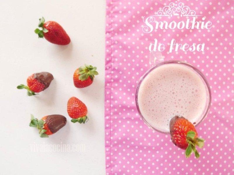 cómo hacer un smoothie de fresa casero
