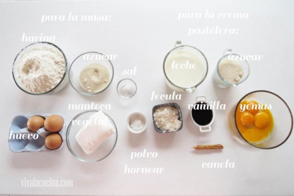 Ingredientes para preparar la receta de Empanadas de Cuaresma
