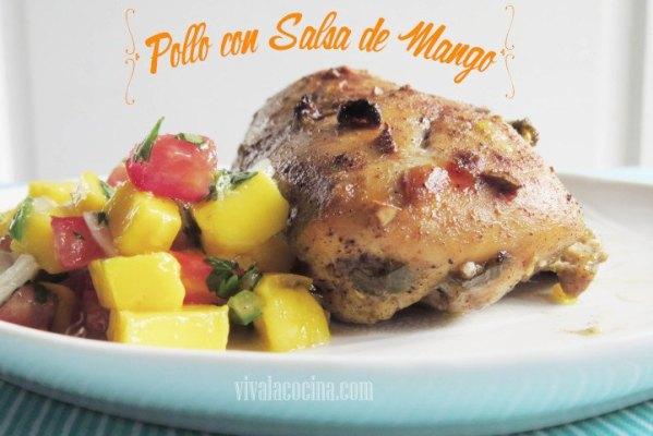 Pechuga de Pollo con Salsa de Mango Picante