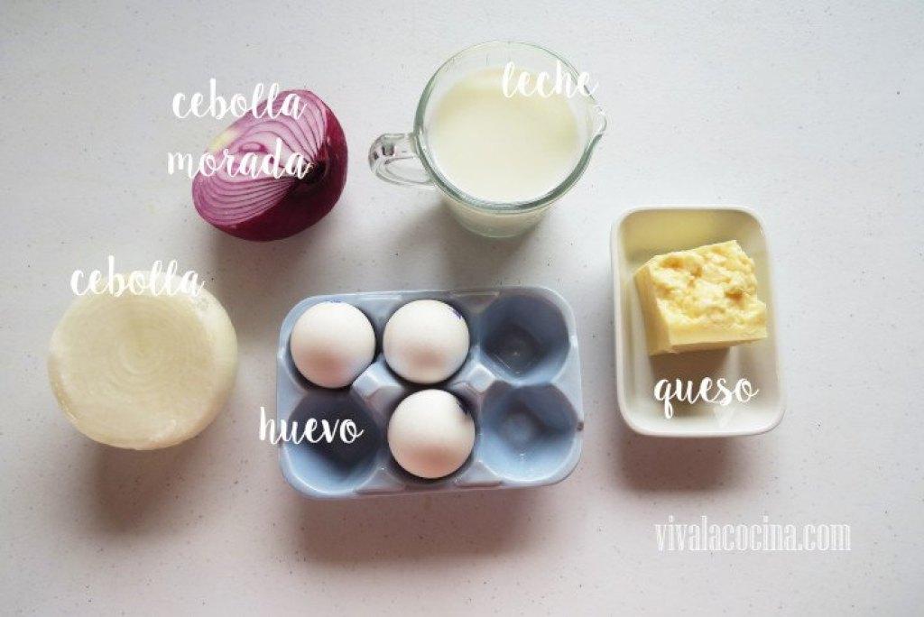 Ingredientes para el relleno del Quiche