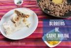 Burritos de Carne Molida y Queso Cheddar. Receta Tex-Mex Fácil
