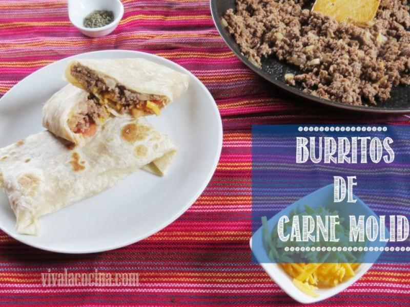 Burritos de Carne molidaestilo mexicano