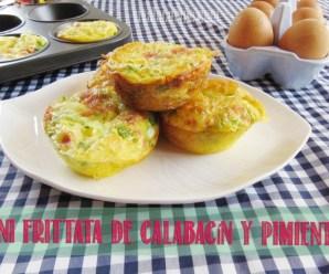 Mini Frittatas de Calabacín, Pimiento, Jamón y Queso Manchego