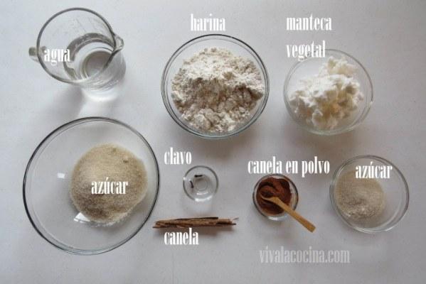 Ingredientes para hacer Hojarascas
