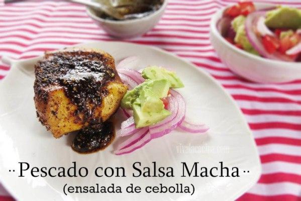 Receta de pescado en Salsa Macha