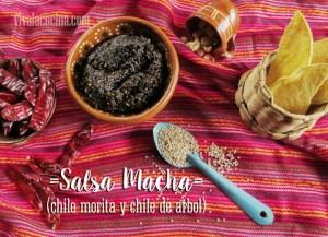 Salsa Macha. Receta de salsa de chile morita y chile de árbol