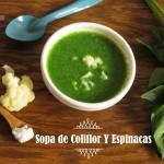 Sopa de Coliflor y Espinacas: Receta con extractor Hurom