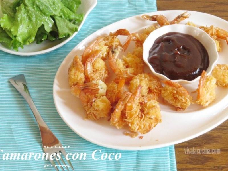 Camarones con Coco