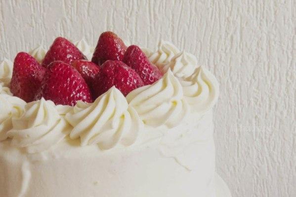 Pastel de Fresa y vainilla hecho en casa