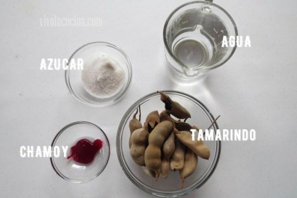 Ingredientes para preparar Paletas de Tamarindo
