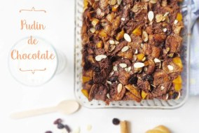 Capirotada de Chocolate: Pudin de Pan con Chocolate, Almendras y mas