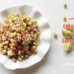 Ensalada de Garbanzos y Tomate. Receta fresca de verano