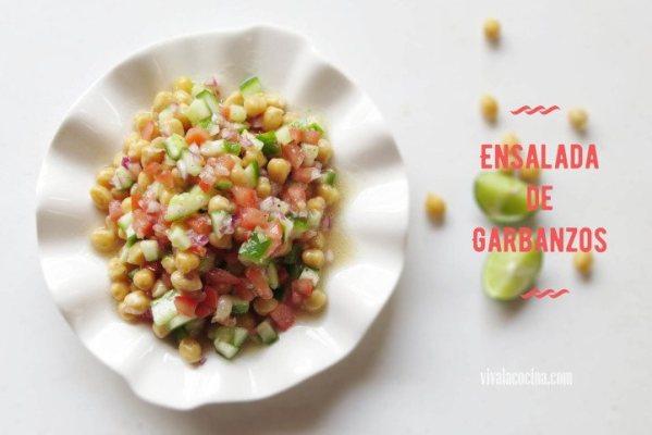 Ensalada de Garbanzos y Tomate