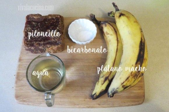 Ingredientes de la receta de plátanos enmielados
