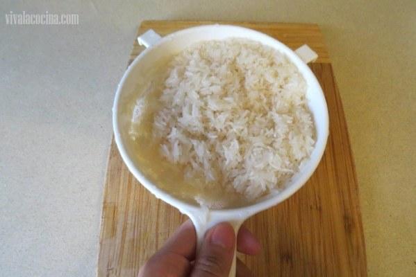Cómo lavar arroz para hacer receta