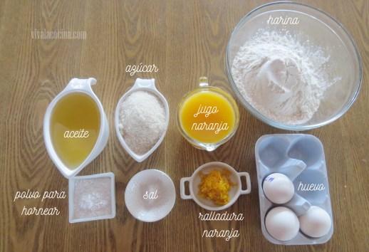 Ingredientes para los Cupcakes de Naranja