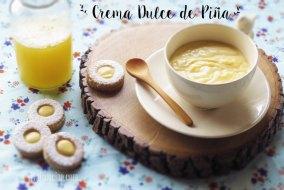 Crema Dulce de Piña para relleno de galletas. Receta fácil y muy rápida