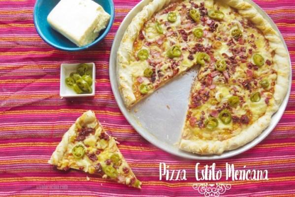 Receta de Pizza Mexicana o pizza con jalapeños