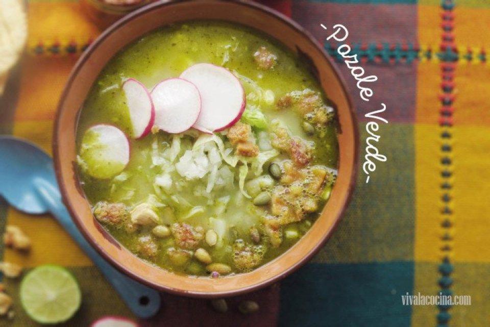 Pozole verde mexicano estilo Guerrero
