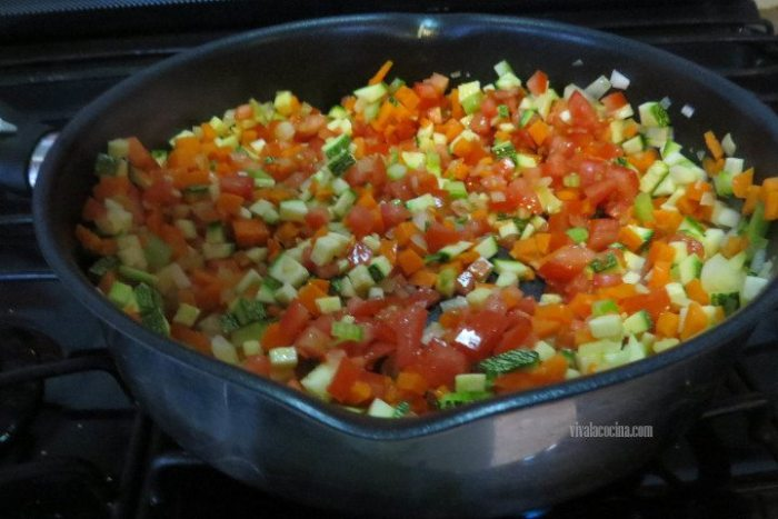 Verduras para hacer lasaña en olla lenta
