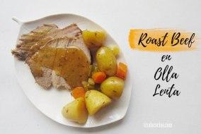 Roast beef en Olla Lenta: Comida Completa y en sencillos pasos