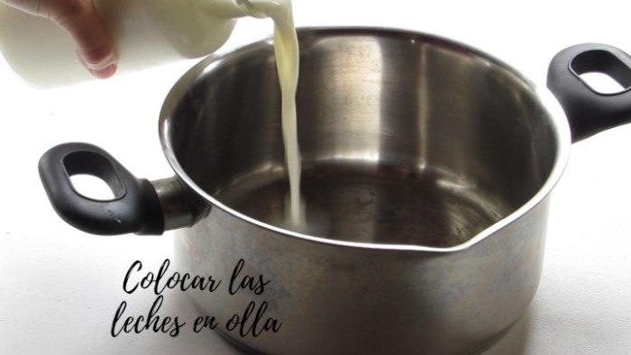 leche para elaborar atole de coco