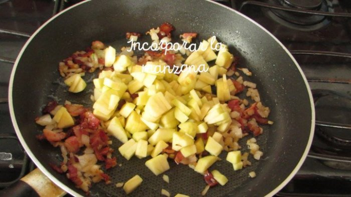 manzana para hacer lomo de cerdo