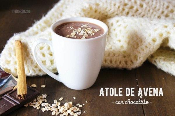 receta de atole de avena con chocolate