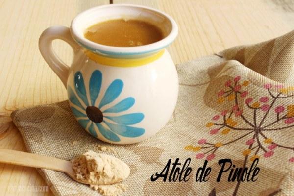 receta de atole de pinole casero