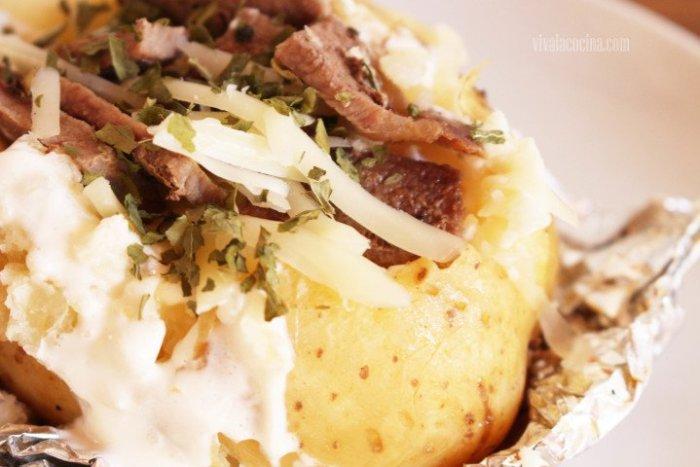 sugerencia de presentación de las patatas rellenas