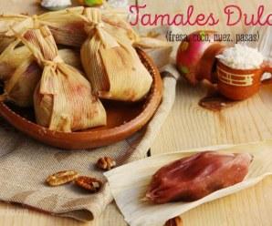 Tamales Dulces de Fresa con pasas, nueces y coco. RECETA + VÍDEO