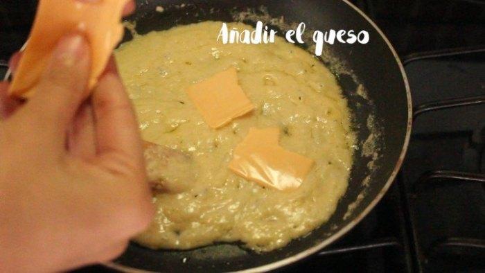 queso para preparar Sándwich Montecristo