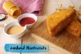 Sándwich Montecristo y Salsas para acompañar sandwich de Jamón y Queso