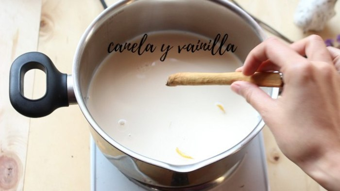 canela y vainilla para hacer leche frita