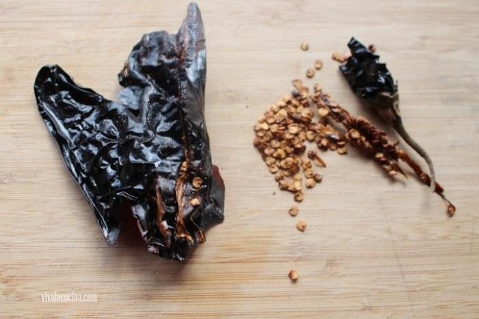 chiles para preparar carne de res